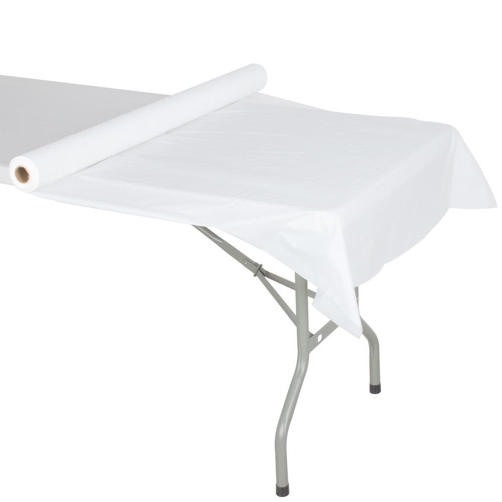 Atlantis Plastics 2TCW300C White Plastic Roll Table Cover 300 Roll