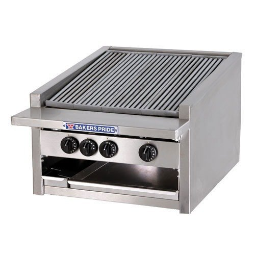"Bakers Pride L-24GS Natural Gas 24"" Low Profile Glo Stone Charbroiler - 108,000 BTU Main Image 1"