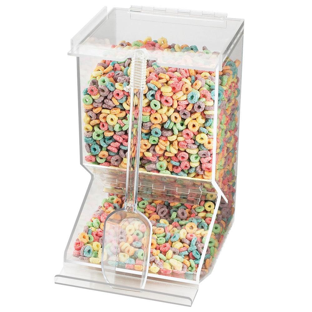 Bulk cereal dispenser webstaurantstore cal mil 656 stackable acrylic cereal dispenser ccuart Images