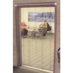 "Curtron M108-S-7386 73"" x 86"" Standard Grade Step-In Refrigerator / Freezer Strip Door Main Image 1"