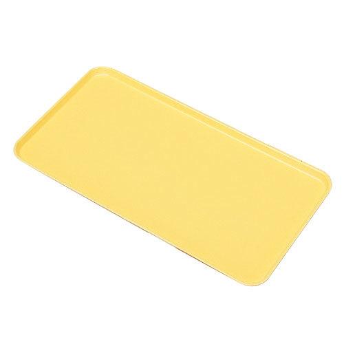 "Cambro 1224MT145 12"" x 24"" Yellow Fiberglass Market Tray - 12/Case"