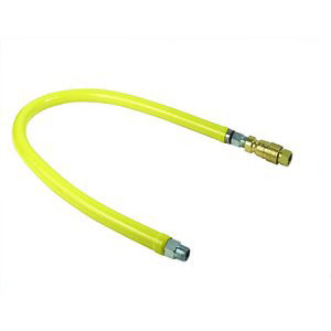 """T&S HG-4E-60K Safe-T-Link 60"""" Quick Disconnect Gas Appliance Connector 1"""" NPT with Installation Kit Main Image 1"""