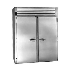 """Traulsen RIH232LP-FHS Stainless Steel 80.2 Cu. Ft. Two Section Roll-Thru Heated Holding Cabinet for 66"""" Pan Racks - Specification Line"""