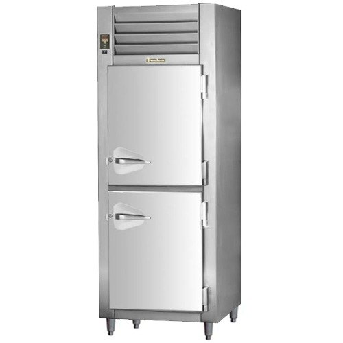 "Traulsen RHT132NPUT-HHS 26"" Stainless Steel Solid Half Door Pass-Through Refrigerator - Specification Line"