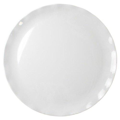 """Thunder Group RF1020W 20"""" Black Pearl White Melamine Plate - 2/Pack"""