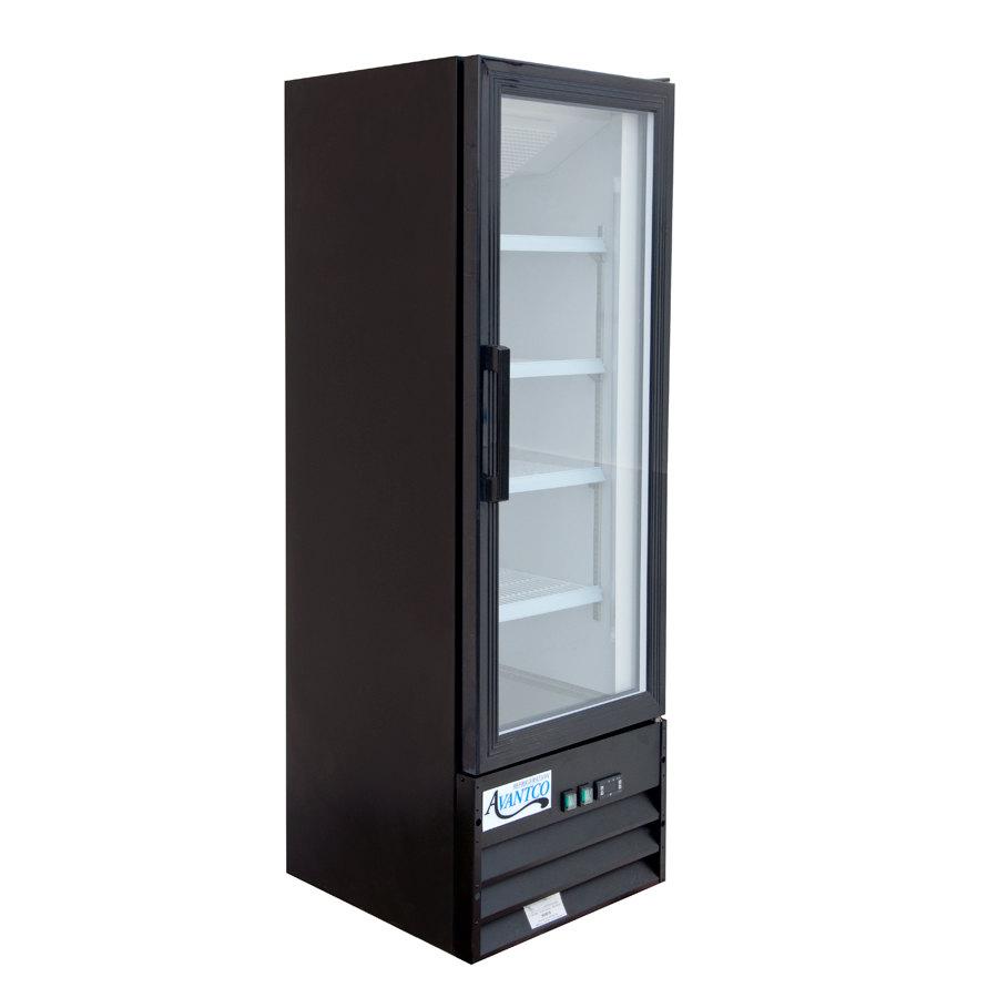 Avantco gdc10 21 swing glass door black merchandiser for 1 glass door refrigerator