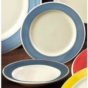 CAC R-115-BLU Rainbow Pasta Bowl 24 oz. - Blue - 12/Case Main Image 1