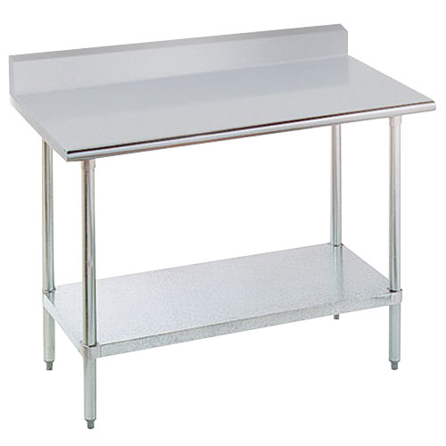 main picture - Stainless Steel Work Table With Backsplash