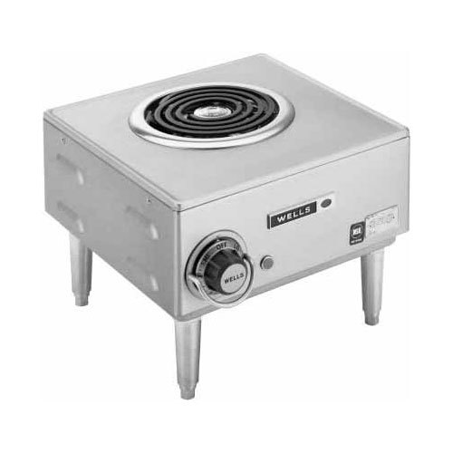 Wells H-33 Countertop Single Burner Electric Hot Plate - 120V, 1500W Main Image 1