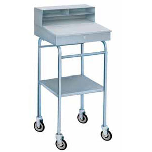 Winholt RDMWNSS-3 Stainless Steel Mobile Receiving Desk Main Image 1
