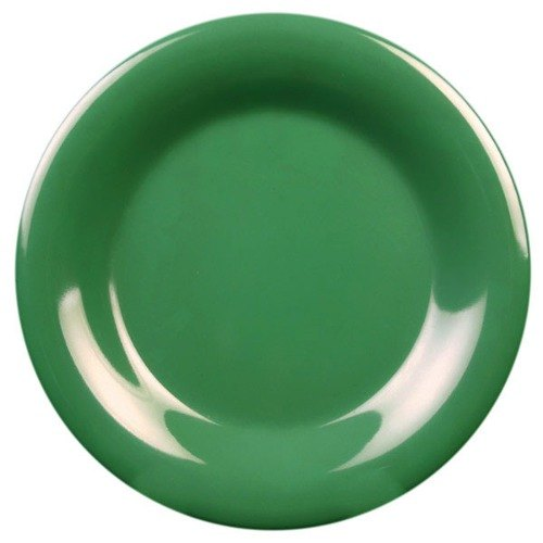 "Thunder Group CR009GR 9 1/4"" Green Wide Rim Melamine Plate - 12/Pack"