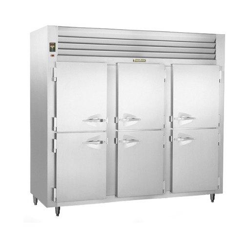 Traulsen AHT332NUT-HHS 69.5 Cu. Ft. Half Door Three Section Narrow Reach In Refrigerator - Specification Line