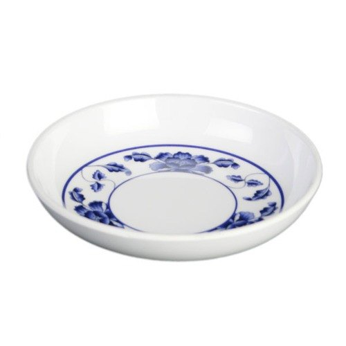 Thunder Group 1101TB Lotus 1 oz. Round Melamine Sauce Dish - 60/Case