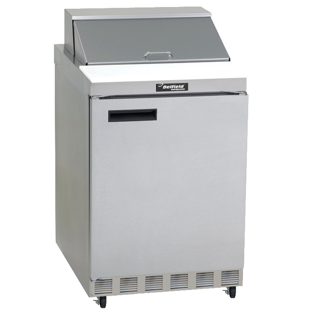 115 Volts Delfield 4432N-12M 32 inch 1 Door Mega Top Refrigerated Sandwich  Prep Table ...