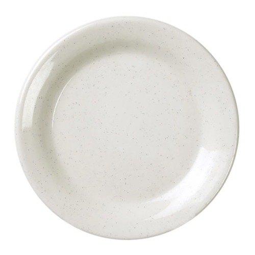 "Thunder Group AD107WS San Marino 7 1/2"" Round Bone White Melamine Plate - 12/Case Main Image 1"