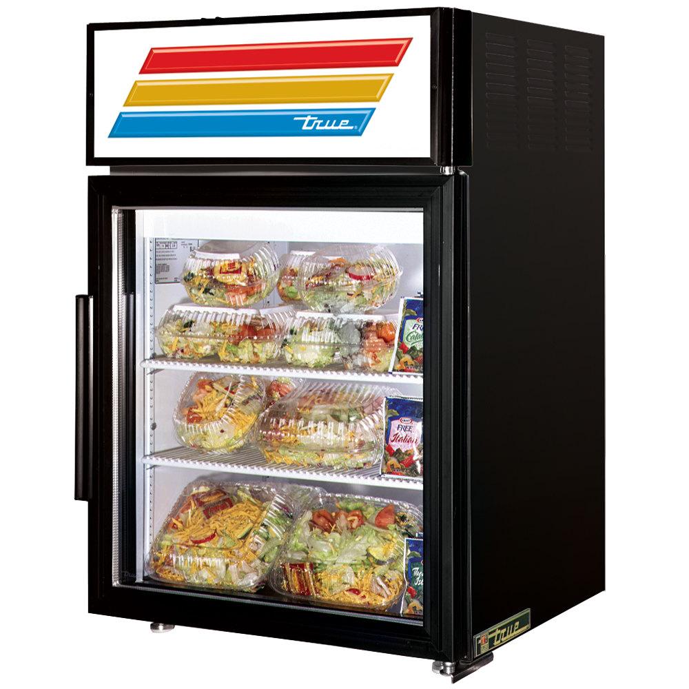 True GDM-5-LD Black Countertop Display Refrigerator with Swing Door