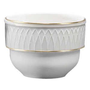Homer Laughlin 1420-0383 Westminster Gothic Off White 7 oz. Stacking Bouillon - 36/Case