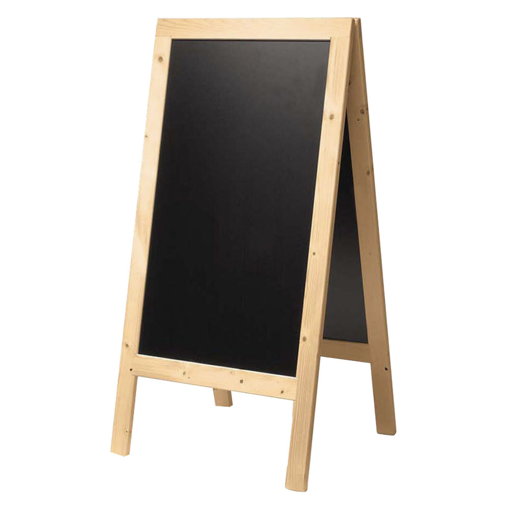 American Metalcraft Securit SBSB135 A Frame Sign Board 30 Inch X 54 Natural Finish
