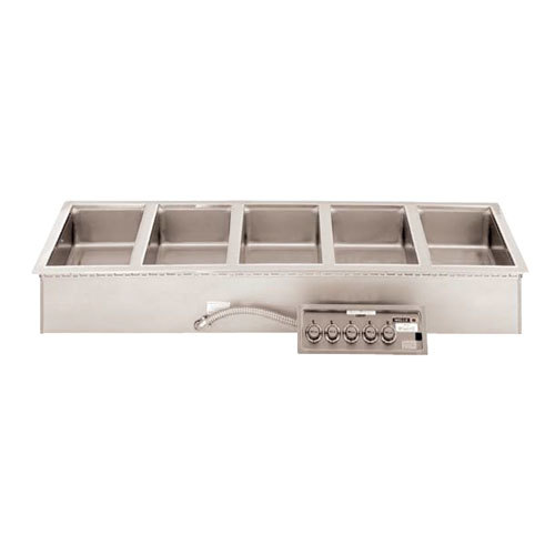 Wells 5P-MOD527TDMAF 5 Well 4/3 Size Drop-In Hot Food Well with Drain Manifolds and Autofill - Dual Thermostatic Control Panels Main Image 1