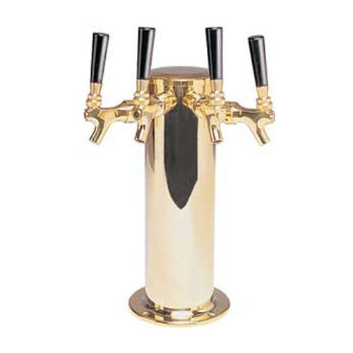 "Micro Matic DS-244-PVD PVD Brass 4 Tap Tower - 4"" Column"