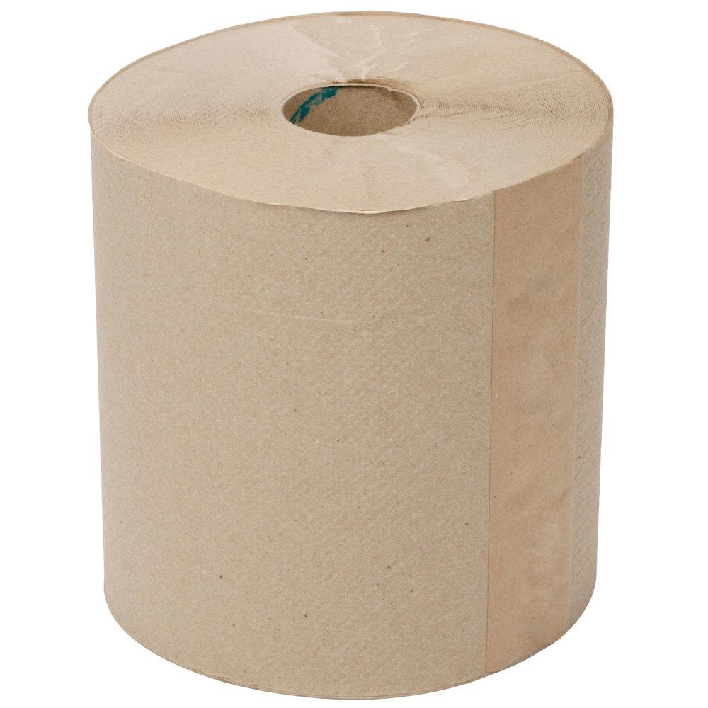 Lavex Janitorial 800u0027 Natural Brown Kraft Hardwound Roll Paper Towel - 6/Case ...  sc 1 st  WebstaurantStore & Unbleached Paper Plates | Unbleached Paper Products