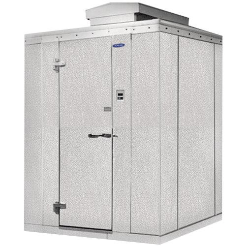 """Lft. Hinged Door Nor-Lake KODF7788-C Kold Locker 8' x 8' x 7' 7"""" Outdoor Walk-In Freezer"""