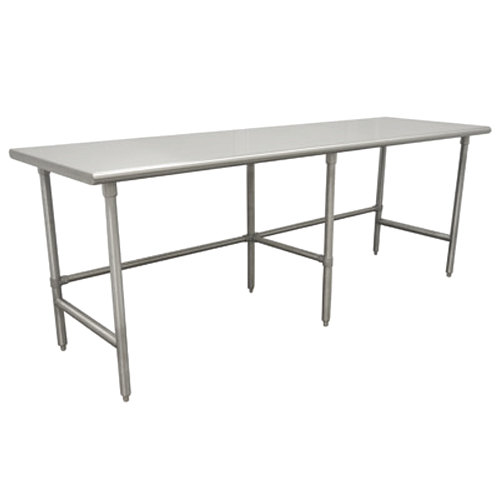 """Advance Tabco TGLG-249 24"""" x 108"""" 14 Gauge Open Base Stainless Steel Commercial Work Table"""