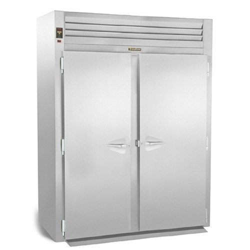 """Traulsen RIH232H-FHS Stainless Steel 79.5 Cu. Ft. Two Section Roll-In Heated Holding Cabinet for 72"""" Pan Racks - Specification Line"""
