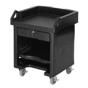 Cambro VCS110 Black Versa Cart with Standard Casters