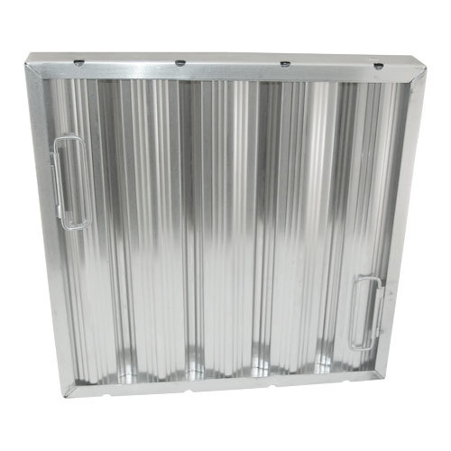 "All Points 26-3885 16"" x 16"" x 2"" Stainless Steel Hood Filter - Ridged Baffles"