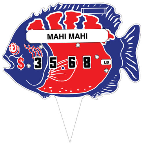 Fish Deli Tag Wheel with Insert - 25/Pack