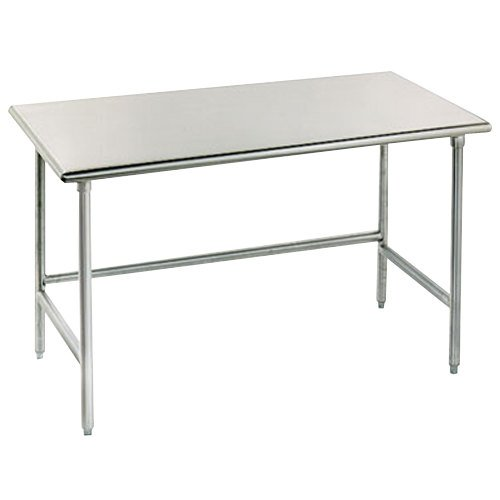 """Advance Tabco TAG-302 30"""" x 24"""" 16 Gauge Open Base Stainless Steel Commercial Work Table"""
