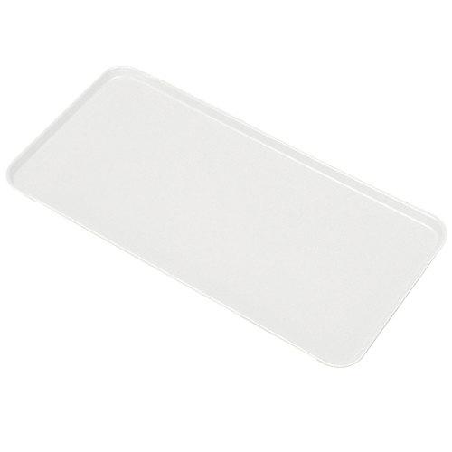 """Cambro 1230MT148 12"""" x 30"""" White Fiberglass Market Tray - 12/Case"""