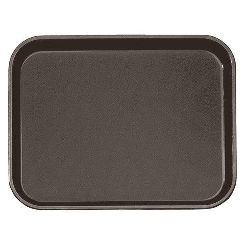 """Cambro PT1216167 Brown 12"""" x 16"""" Polytread Non-Skid Serving Tray"""
