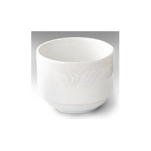 CAC RSV-4 Roosevelt 7.5 oz. Super White Porcelain Bouillon Bowl - 36/Case