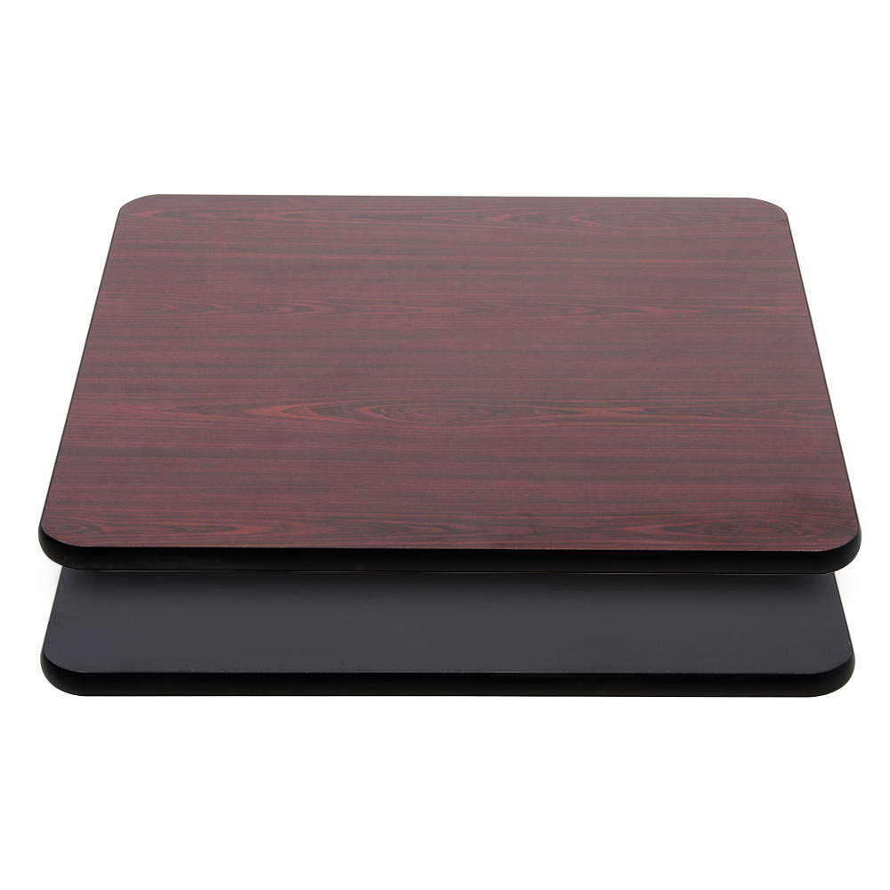 Lancaster Table U0026 Seating 36 Inch X 36 Inch Laminated Square Table Top  Reversible Cherry ...