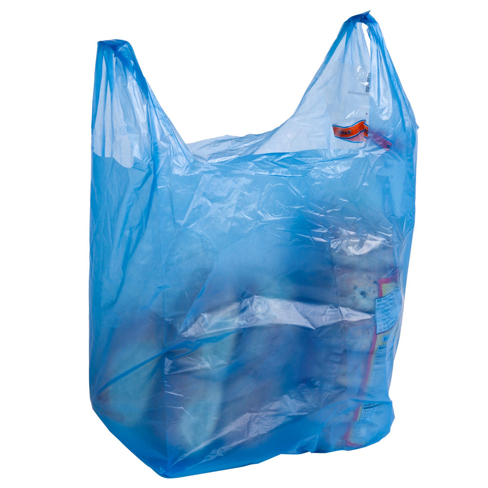 1 6 size blue t shirt bag 1000 case for Bags for t shirt packaging