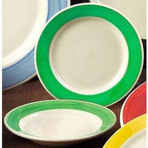 CAC R-115-G Rainbow Pasta Bowl 24 oz. - Green - 12/Case