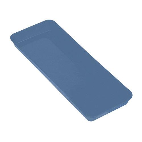 "Cambro 8262MT142 Blue Fiberglass Market Pan 8"" x 25"" - 12/Case"
