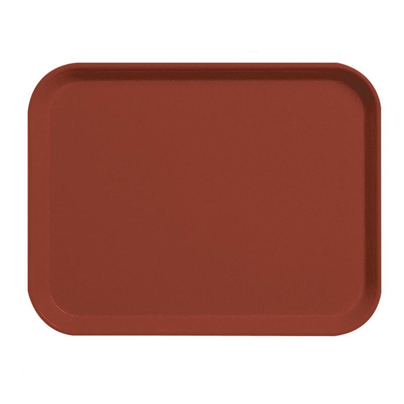 "Cambro 1418CL675 14"" x 18"" Steel Red Camlite Tray - 12/Case"