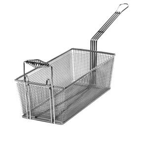 "Cecilware V006A 8 3/4"" x 3 1/2"" x 4 1/2"" Fryer Basket with Front Hook Main Image 1"