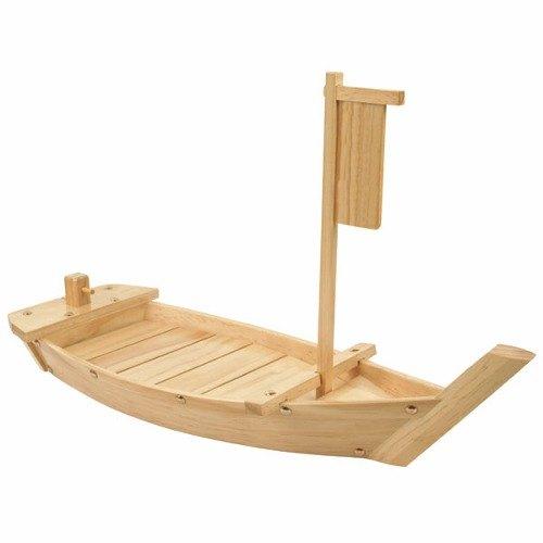 "36"" Wood Boat Serving Display"