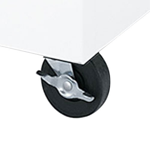"""Beverage-Air 401-519A 7"""" Replacement Plate Caster for SMF Series Cold Wall Milk Coolers Main Image 1"""