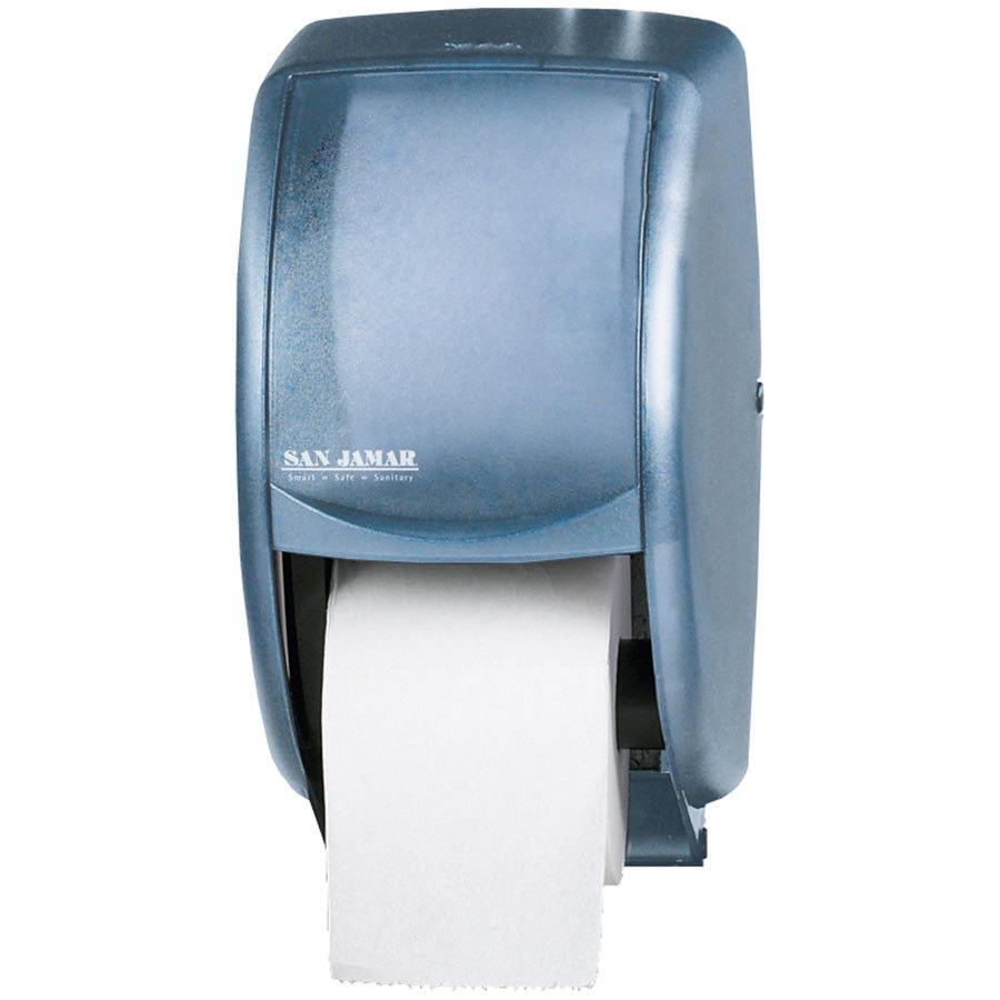 san jamar r3500tbl duett classic toilet tissue dispenser