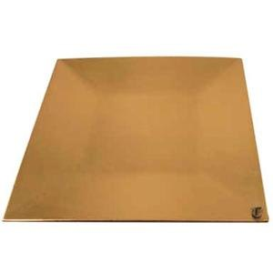 """Tabletop Classics TRG-6670 13"""" Gold Square Polypropylene Charger Plate"""