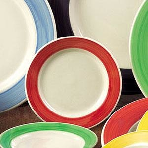 CAC R-3-R Rainbow 12 oz. Red Rolled Edge Stoneware Pasta / Soup Bowl - 24/Case Main Image 1