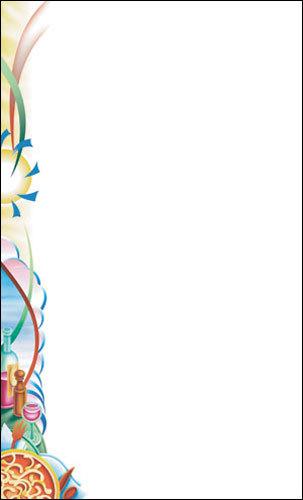 "8 1/2"" x 11"" Menu Paper Left Insert - Pasta Themed Table Setting Design - 100/Pack"