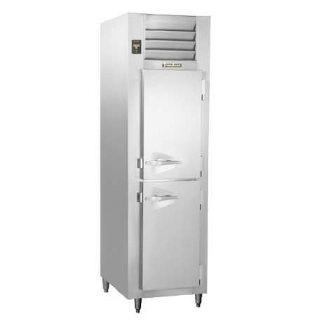 Traulsen RLT132NUT-FHS Stainless Steel 21.9 Cu. Ft. One-Section Solid Door Narrow Reach In Freezer - Specification Line