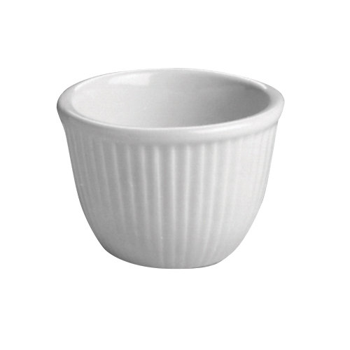 Hall China 8500AWHA 6 oz. White Fluted Custard Dish - 24/Case