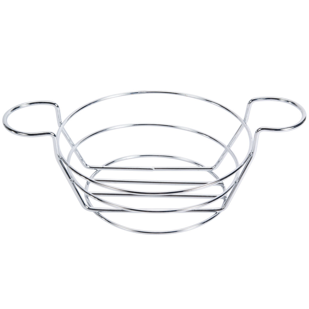 american metalcraft bskc08 chrome round wire basket with